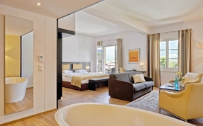 Junior Suite im Sorell Hotel Tamina Bad Ragaz