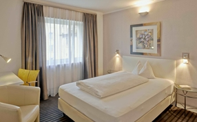 Business-Single-Zimmer im Business-Hotel City Weissenstein St Gallen