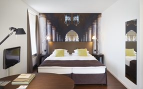 A superior double twin bed room in the Sorell Hotel Rütli Zurich